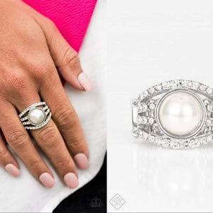 Faux Pearl Stretch Band Ring - Fashion Accessories